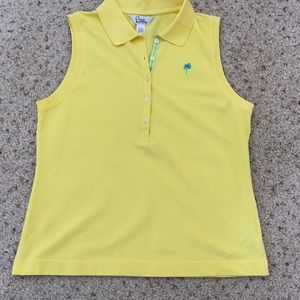 Lilly Pulitzer yellow sleeveless polo  size large